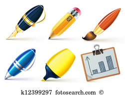 Writing implement Clipart and Illustration. 50 writing implement.