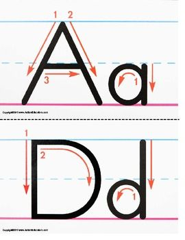 Upper and Lowercase Letter Formation Writing Guide.