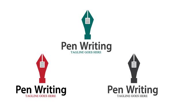Pen Writing Logo Template.