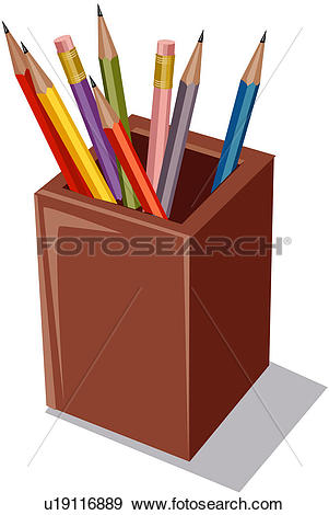 Clip Art of series, office supply, large group of objects, medium.