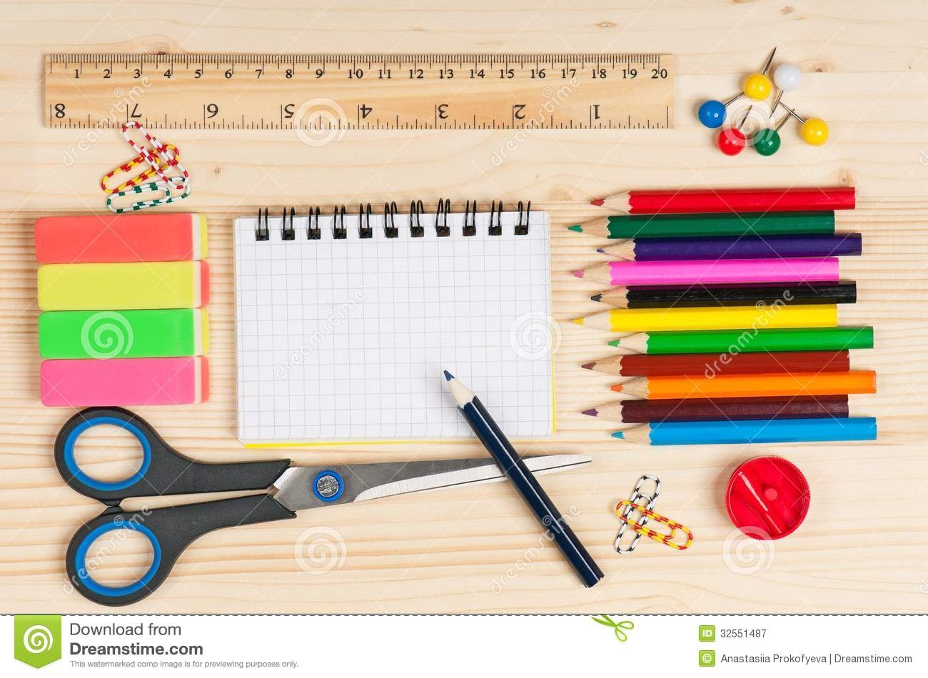 Writing materials clipart.