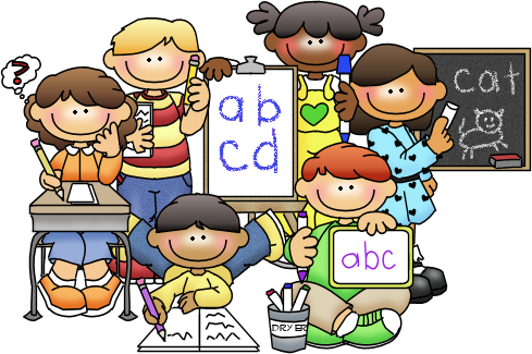 Child Writing Name Clipart.