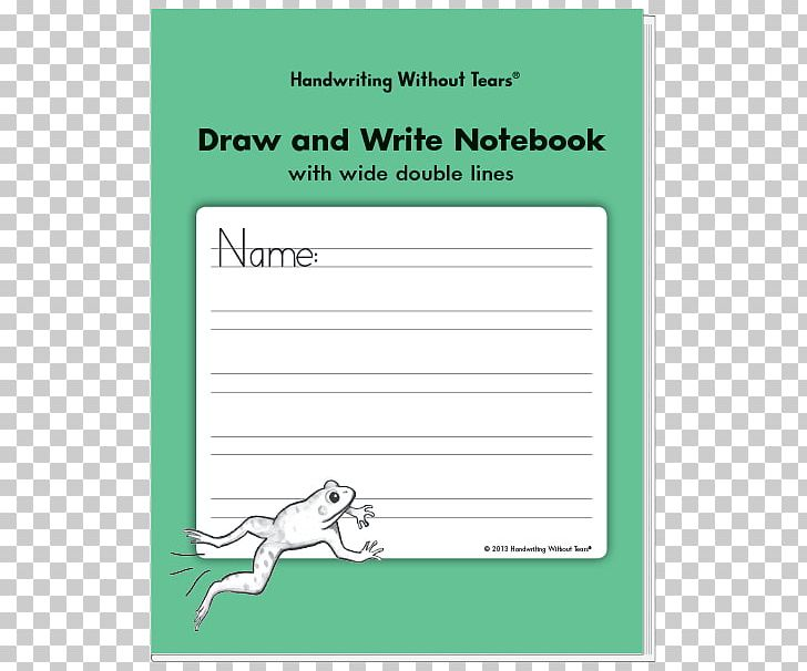 Paper Draw And Write Notebook: With Wide Double Lines.