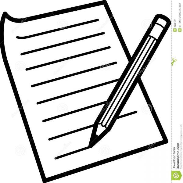 Notebook Clipart Free Download On Mbtskoudsalg in Pencil Writing In.