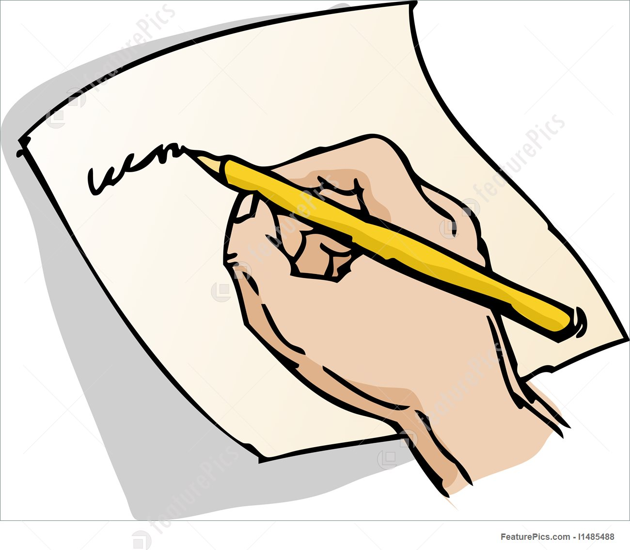 Paper With Writing On It Clipart.
