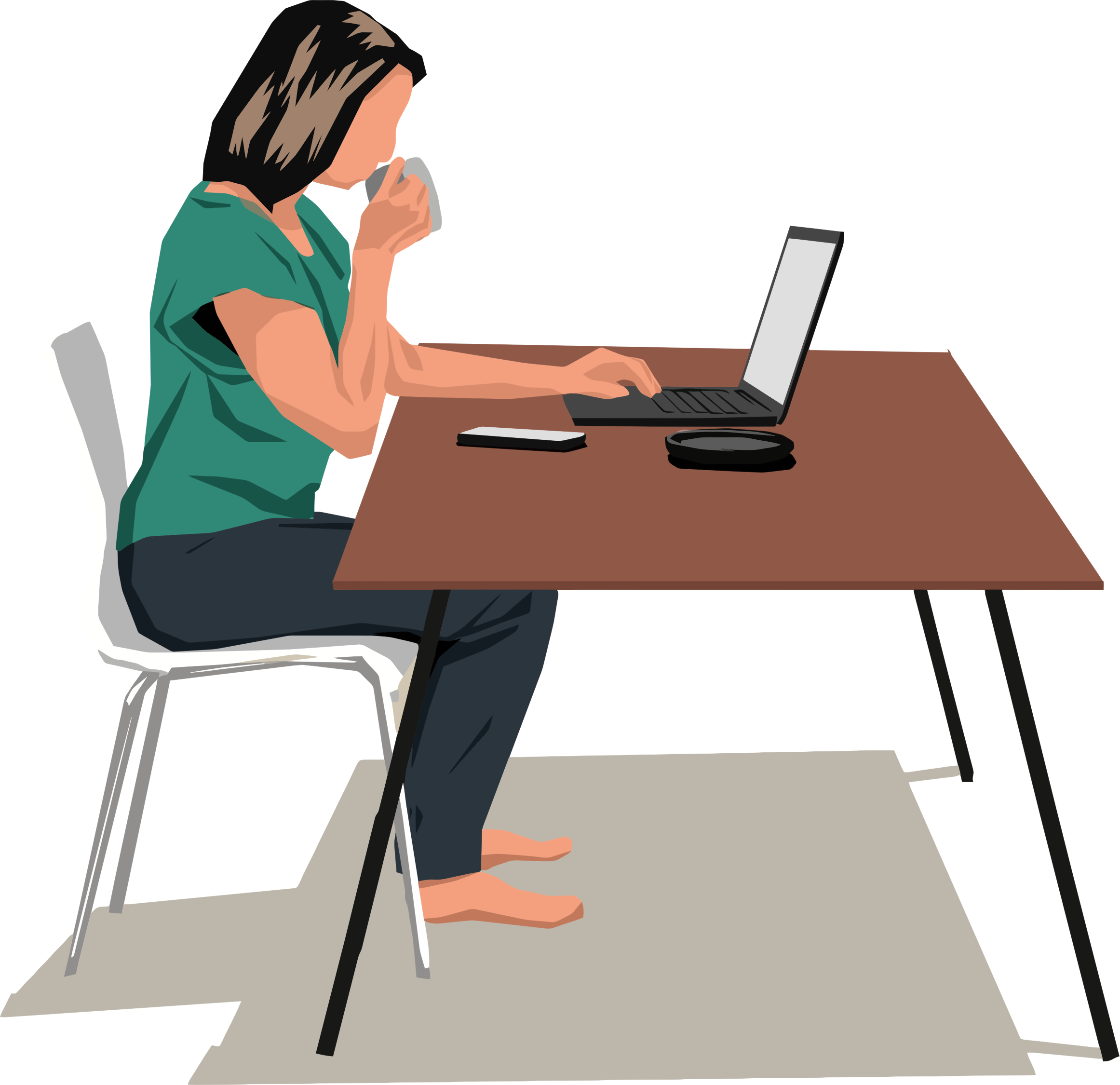 Laptop clipart female, Laptop female Transparent FREE for.
