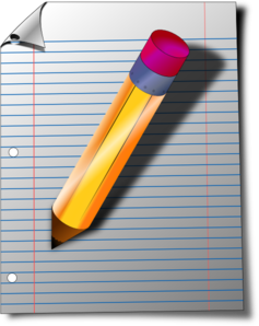 Writing Pad And Pen Clipart.