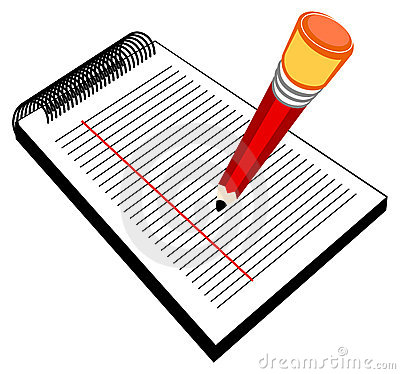 Clipart writing pad.