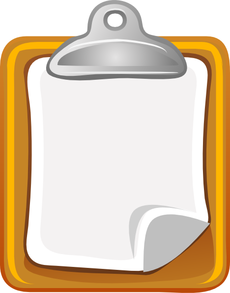 Writing pad clipart #16