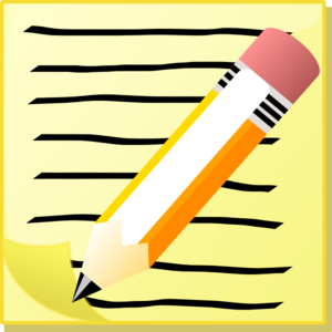Clipart writing paper.