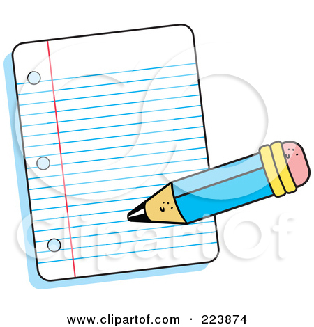 pen writing on paper clipart #3