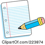 Writing Paper Clipart.