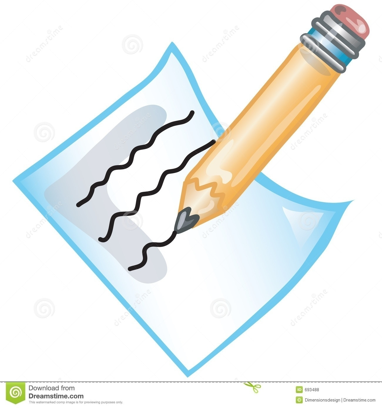 Writing On Paper Clipart Free Download Clip Art.
