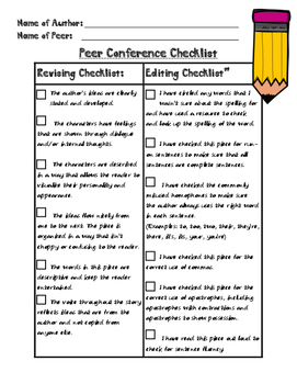 Peer Conference Writing Worksheets & Teaching Resources.