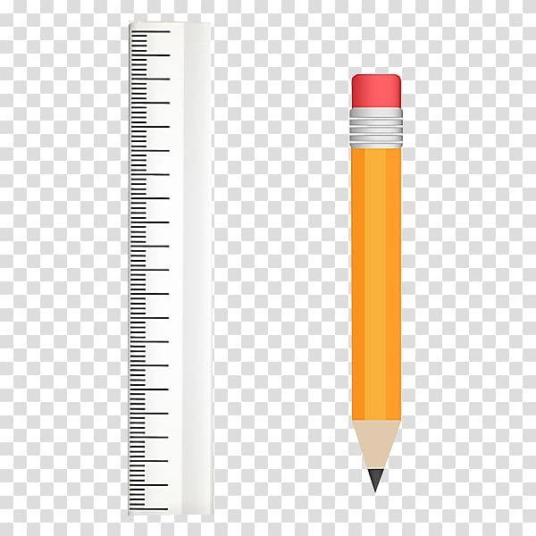 Pencil Ruler Stationery, Pen and ruler transparent.
