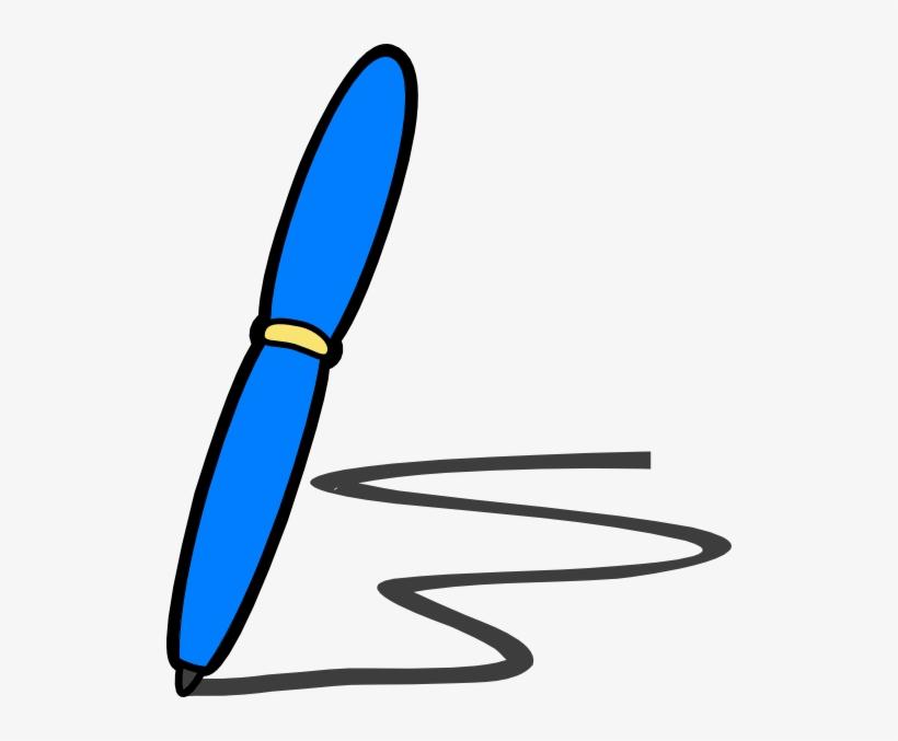 Blue Pen Write Clip.