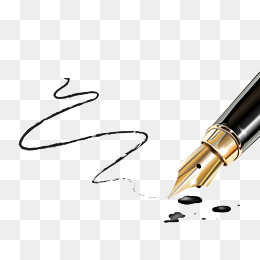 Writing Pen, Line, Ink, Black Pen PNG Im #46322.