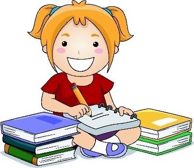 Students Writing Clipart.