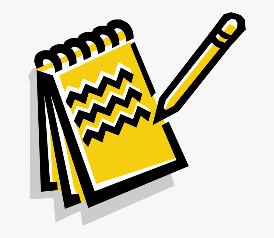 Vector Illustration Of Notebook, Notepad Or Writing.