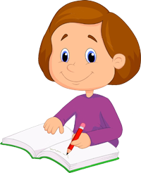 PNG Writing Kids Transparent Writing Kids.PNG Images..