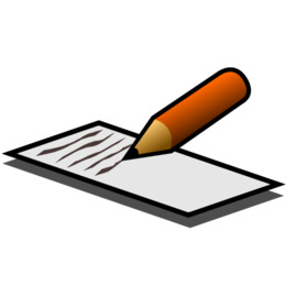 Writing Cartoon png download.