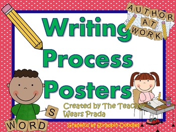 Writing Process Posters Freebie by The Teacher Wears Prada.