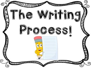 The Writing Process Clip Chart.