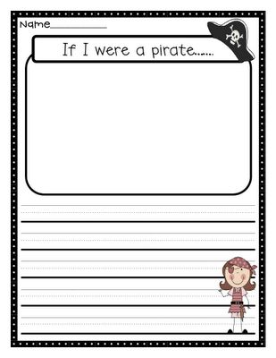 Pirate Writing Prompt.
