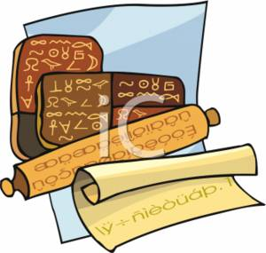 Clipart Picture of Hiroglyphics Tablets.