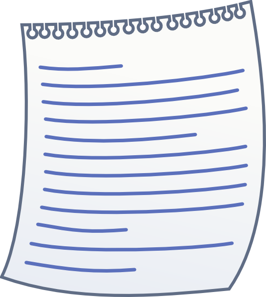 Paper With Writing Clip Art at Clker.com.