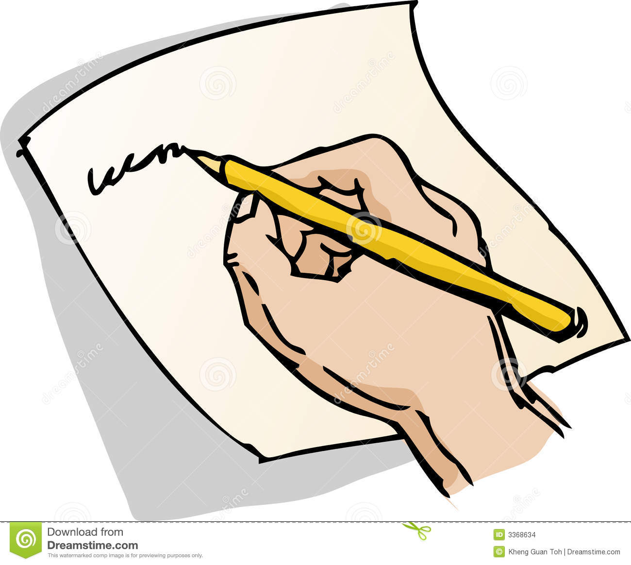 Hand Writing On Paper Clipart.
