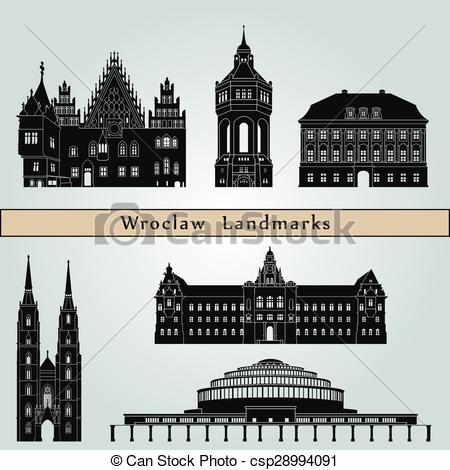 EPS Vectors of Wroclaw Landmarks.