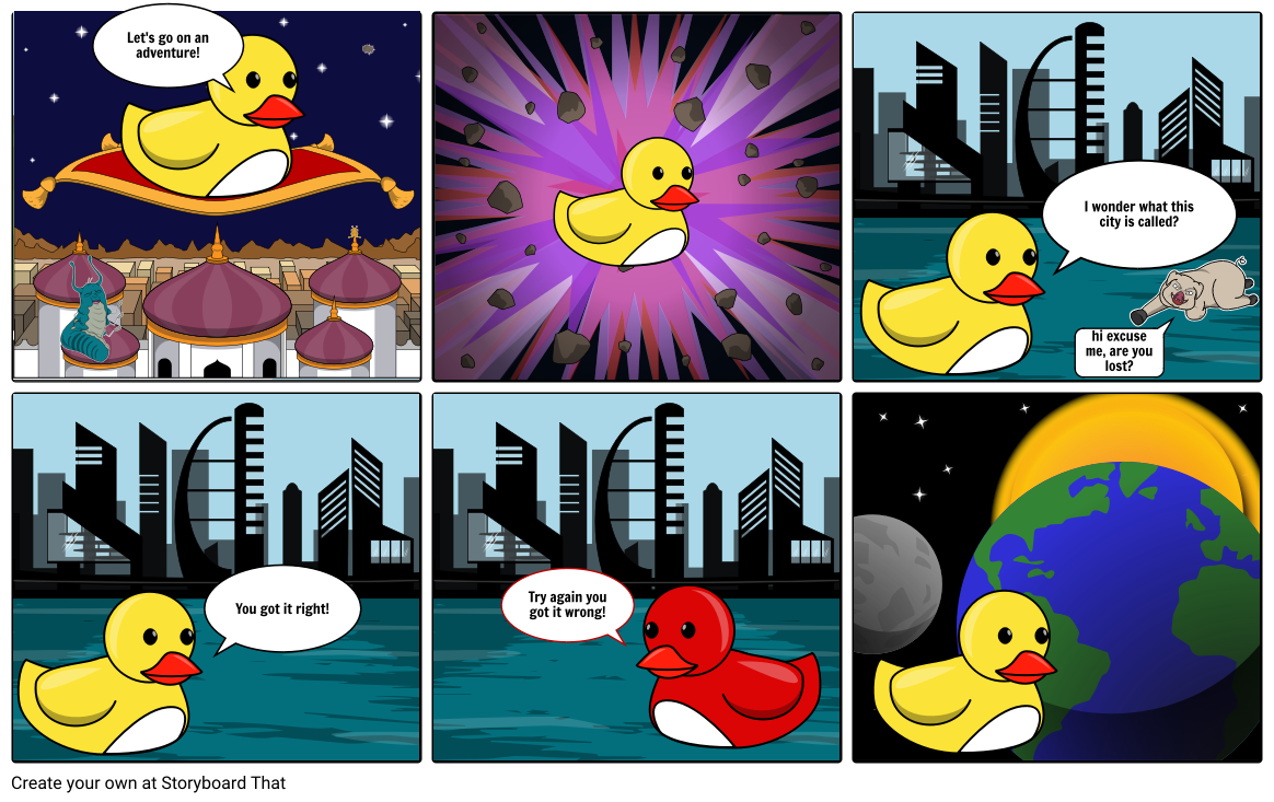 duck adventures Storyboard by keiravalerina.