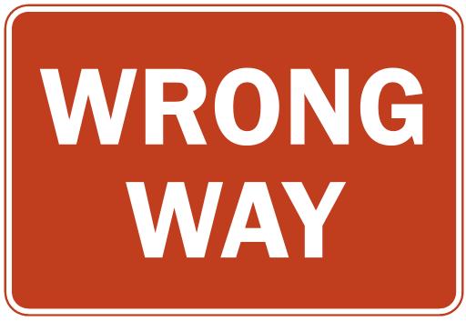 Wrong way clipart 1 » Clipart Portal.