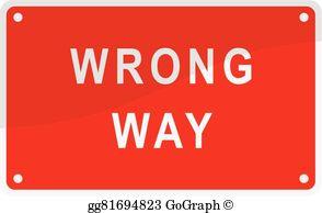 Wrong Way Clip Art.