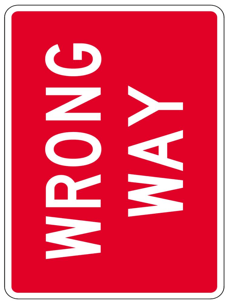 Wrong Way Sign Clip Art Download.