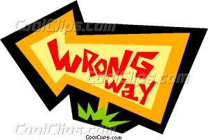 Wrong way sign Vector Clip art.