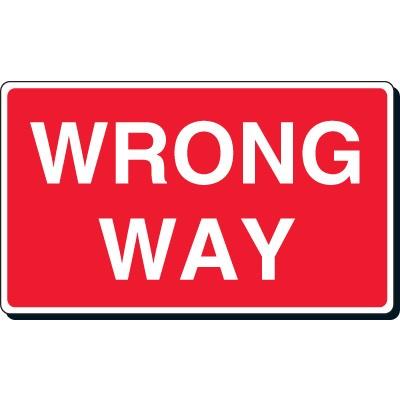 Clip Art Wrong Way Sign Clipart.