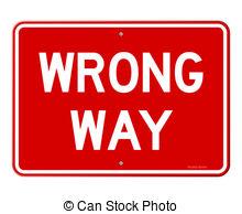 Wrong way Clipart and Stock Illustrations. 1,281 Wrong way vector.