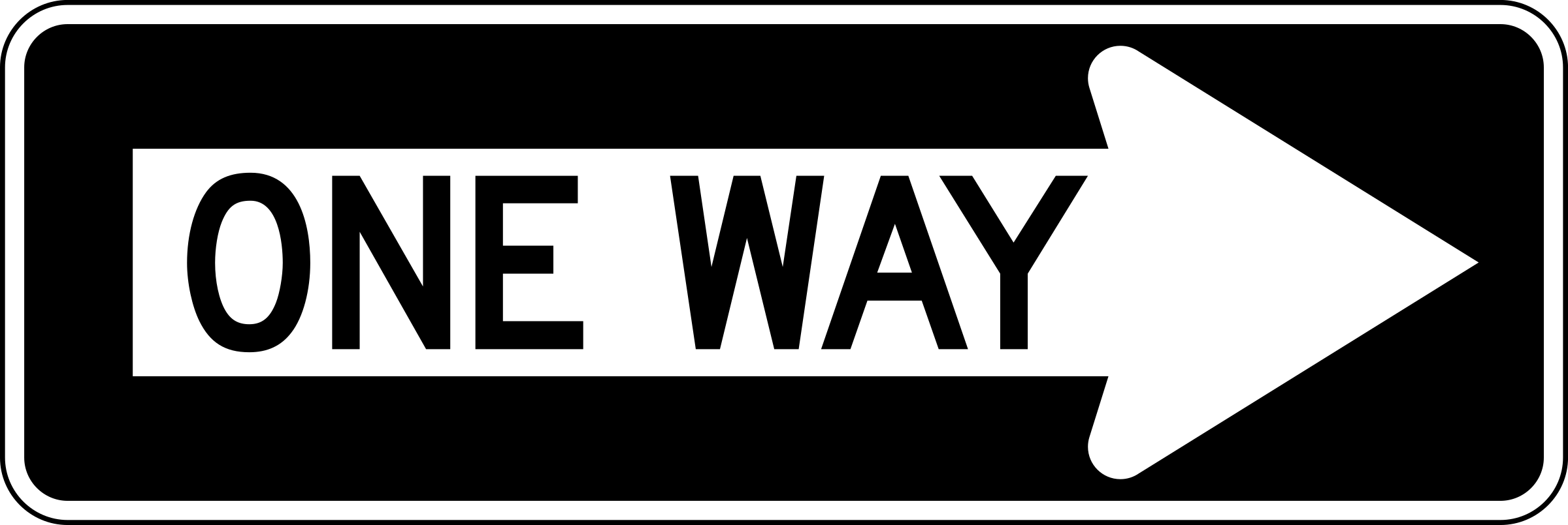 One Way Road Clipart.