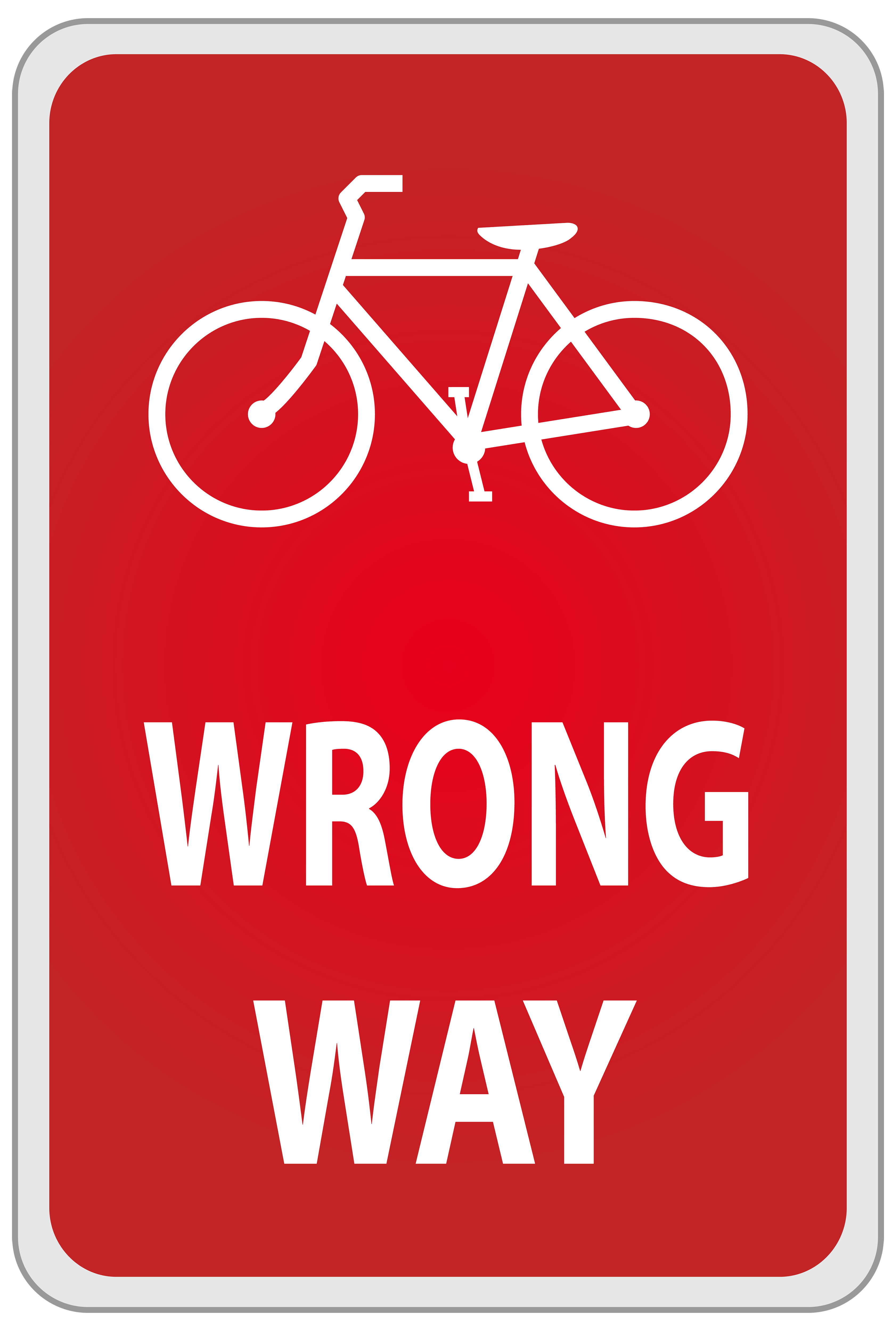 Wrong Way Sign PNG Clipart.