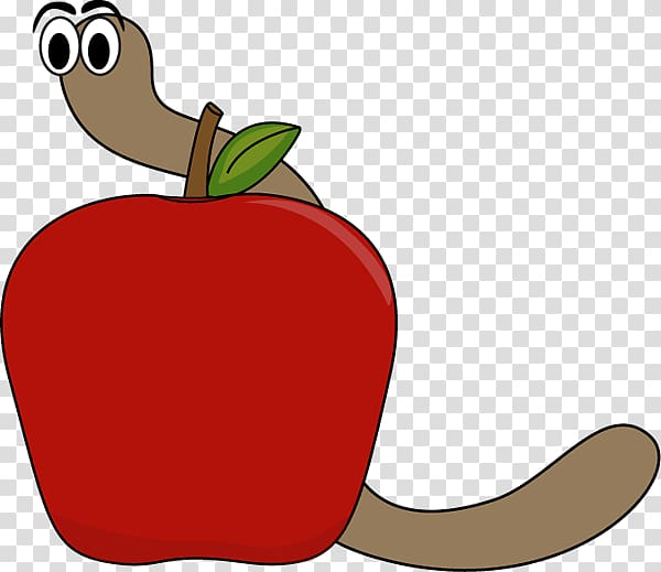 Computer worm Apple , Cute Apple transparent background PNG.