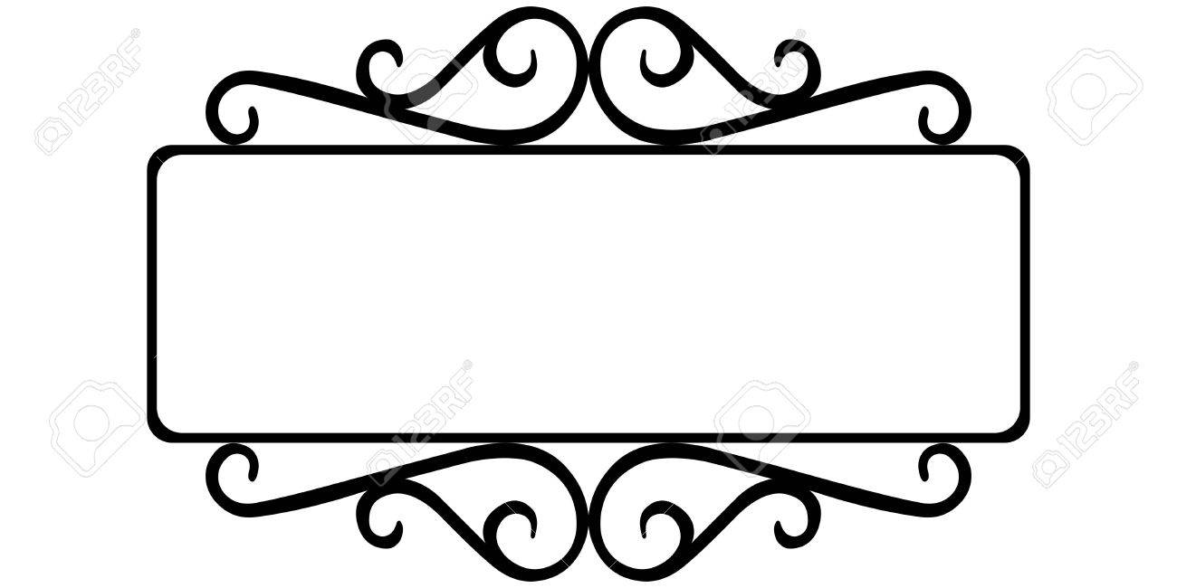 vintage wrought iron frame, the template for the signs of an...