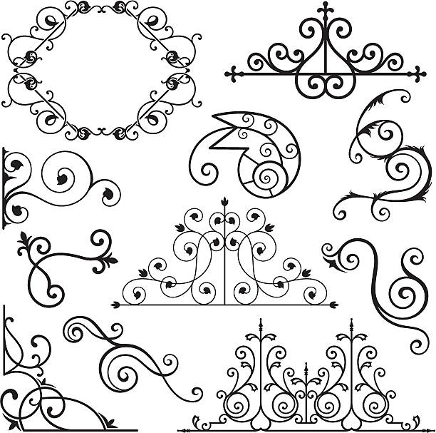 Wrought Iron Texture Illustrations, Royalty.