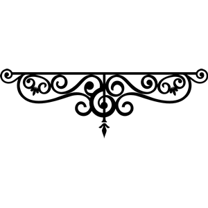 Wrought Iron Outline clipart, cliparts of Wrought Iron Outline free.