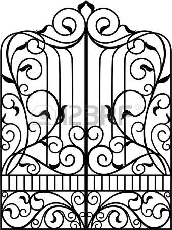 2,590 Wrought Iron Stock Vector Illustration And Royalty Free.