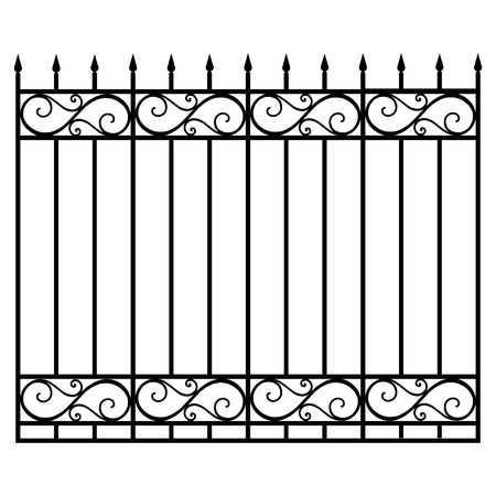 2,571 Wrought Iron Fence Cliparts, Stock Vector And Royalty Free.