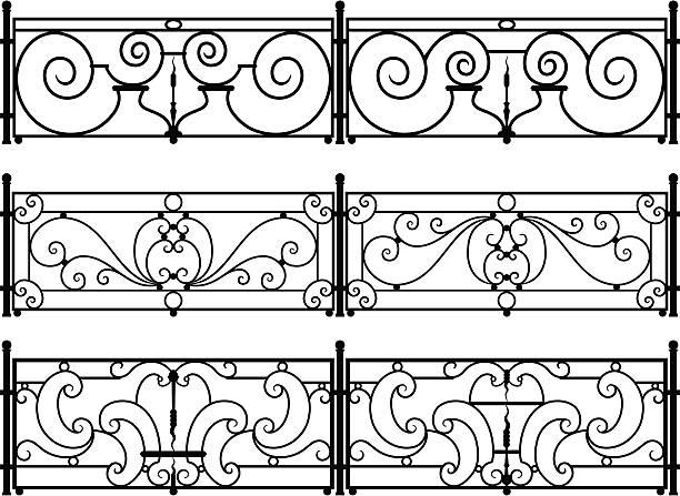 Best Wrought Iron Fence Illustrations, Royalty.