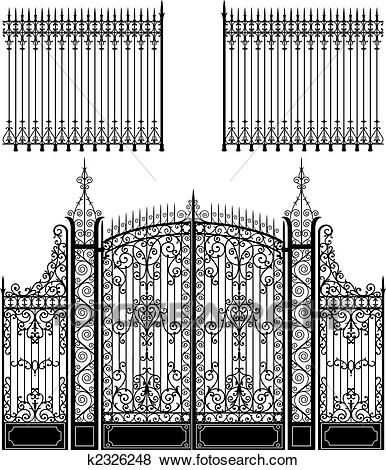 Gate and Fence Clip Art in 2019.