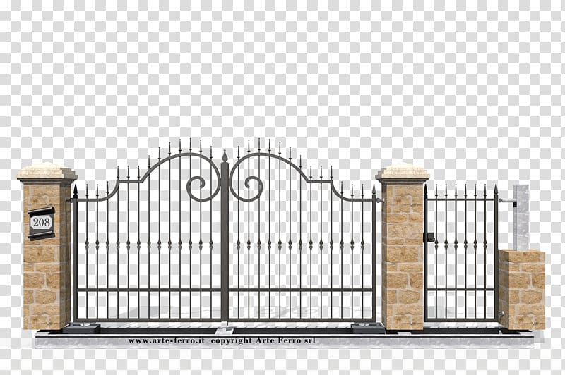 Gate Wrought iron Fence Window, gate transparent background.